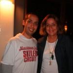 Foto_01__Este_colunista_com_a_jornalista_Cristina_Lira_em_noite_agradvel_no_Press_Trip_Gravat