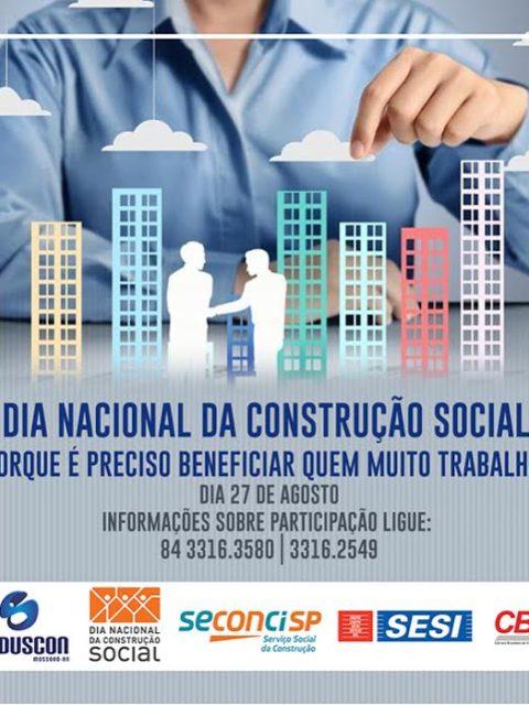 """""""Valores"""" é o tema do Dia Nacional da Construção Social"""